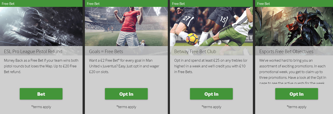 Betway Free Bets
