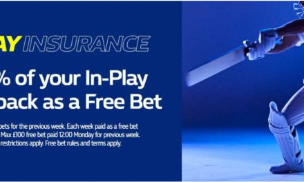 William Hill In-Play Cricket Insurance