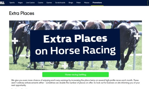 William Hill Extra Places on Horse Racing