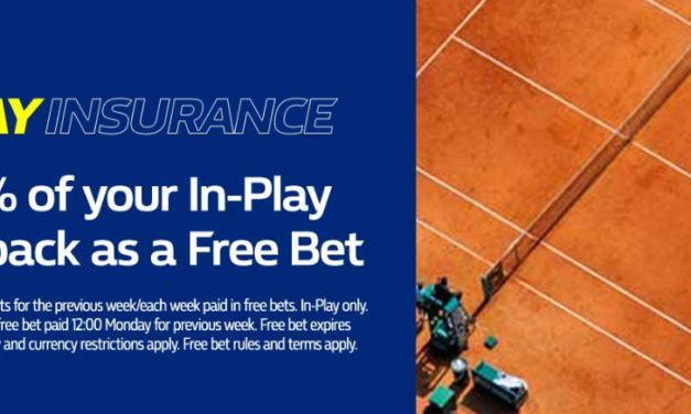 William Hill In-Play Tennis Insurance