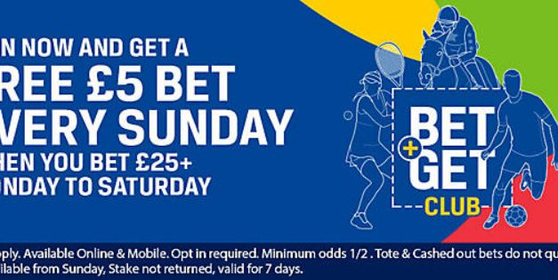 Coral Sunday £5 Free Bet