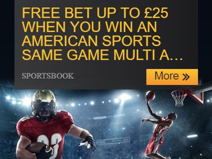 Betfair American Sports Same Game Multi – Free Bet up to £25
