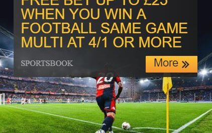Betfair Same Game Multi – £25 in Free Bets