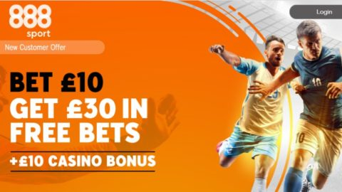 888sport - Bet £10 Get £30 In Free Bets + £10 Casino Bonus