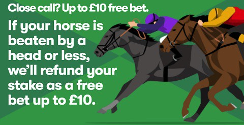 10Bet Close Call Up to 10 Free Bet
