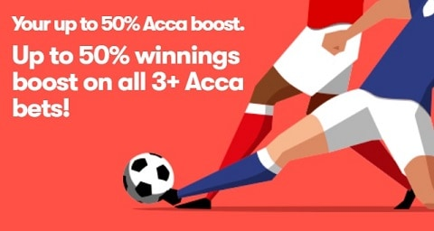 10bet Your up to 50% Acca Boost