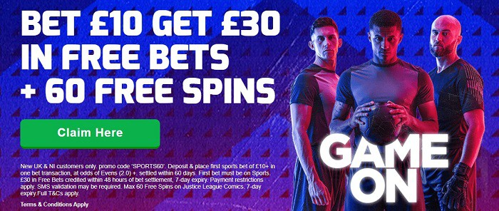 Betfred bet 10 get 30 offer